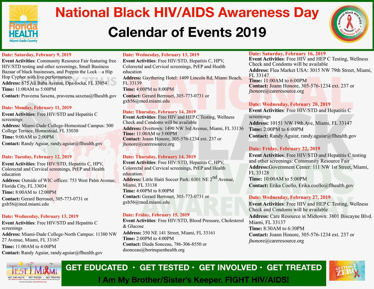 Miami Dade College Calendar >> National Black Hiv Aids Awareness Day Calendar Of Events